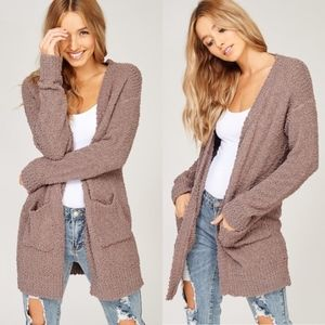 Coziest mocha cardigan sweater *last one size med*